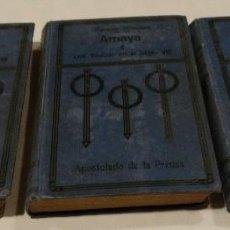 Libros antiguos: AMAYA O LOS VASCOS EN EL SIGLO VIII- 1909-3 TOMOS. Lote 113932387