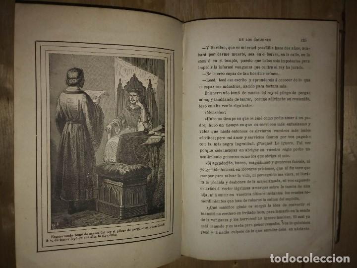 Libros antiguos: 1881 La torre de los crímenes o el suplicio de una reina. Novela histórica. Don Ramón R. Luna - Foto 5 - 114403339