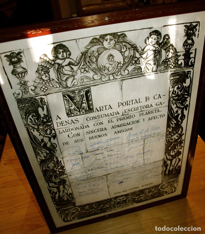 Libros antiguos: MIL FOTOS, DOCUMENTOS, CUADRO CON 50 FIRMAS. ARCHIVO MARTA PORTAL. PREMIO PLANETA 1966. EXCEPCIONAL - Foto 3 - 116459547