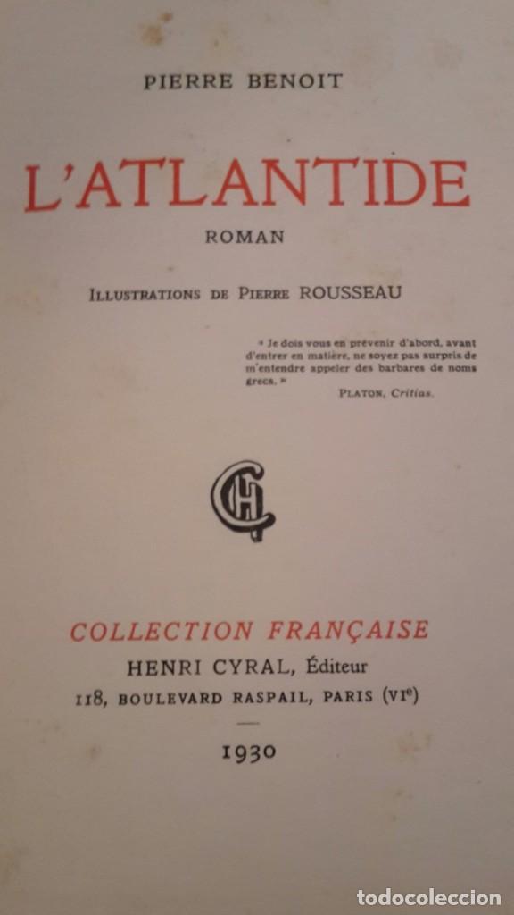 Libros antiguos: Pierre Benoit . L' Atlantide,1930,dedicado a Mra.Eva Duarte de Peron,(EVITA),unico. - Foto 14 - 116472635