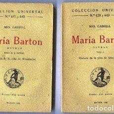 Libros antiguos: HISTORIA DE LA VIDA DE MANCHESTER. MARÍA BARTON. Lote 119526099