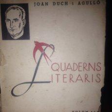 Libros antiguos: AMOR I BANDERES (VOLUM I). JOAN DUCH I AGUILÓ.. Lote 120706362