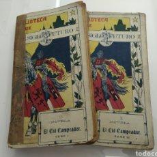 Libros antiguos: EL CID CAMPEADOR NOVELA HISTORICA ORIGINAL ANTONIO TRUEBA 1918 2 TOMOS UNICO TC EXCELSIOR. Lote 121962330