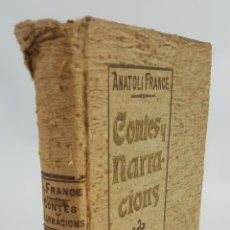 Libros antiguos: CONTES Y NARRACIONS. ANATOLI FRANCE. BIBLIOTECA D´EL POBLE CATALÁ. BARCELONA. 1907.. Lote 123304519