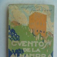 Libros antiguos: CUENTOS DE LA ALHAMBRA , DE WASHINGTON IRVING . EDITORIAL PROMETEO. Lote 124037611