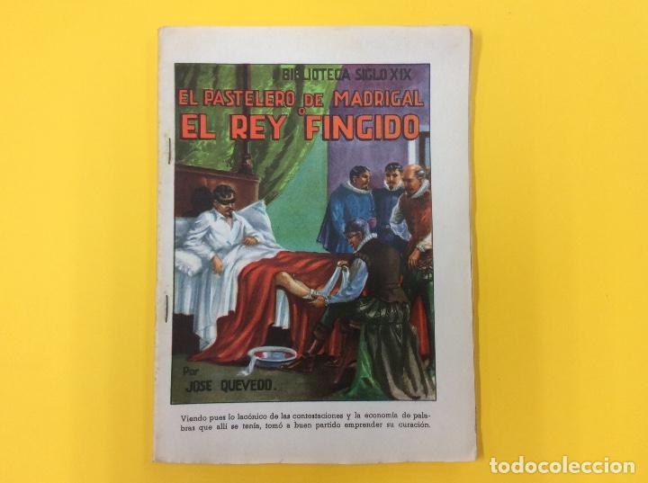 EL PASTELERO DE MADRIGAL O EL REY FINGIDO. J. QUEVEDO. INTONSO. BIBLIOTECA S XIX. (Libros antiguos (hasta 1936), raros y curiosos - Literatura - Narrativa - Novela Histórica)