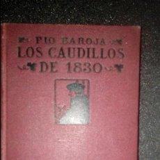 Libros antiguos: BAROJA. GENERACIÓN DEL 98. NOVELA.. Lote 124531999