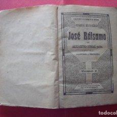 Libros antiguos: ALEJANDRO DUMAS.-JOSE BALSAMO.-BIBLIOTECA DEL HERALDO DE MADRID.-NOVELA.-GARRIDO Y ERNESTO.-AÑO 1906. Lote 126988095