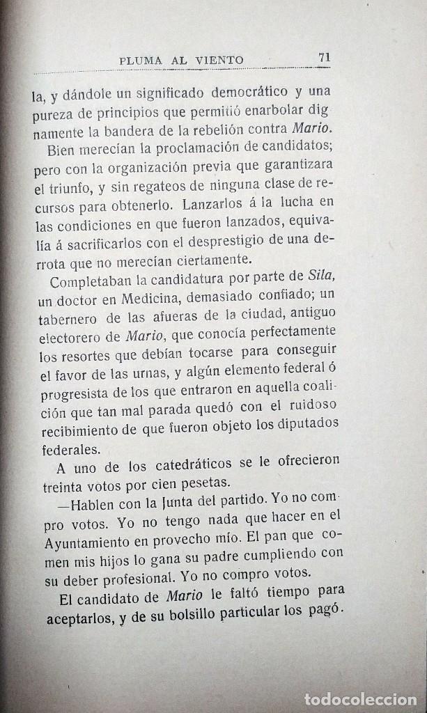 Libros antiguos: PLUMA AL VIENTO : (DIARIO DE UN TESTIGO) / FRANCISCO VILLANUEVA! . MADRID : EST. TIP. DE ANTONIO MAR - Foto 2 - 127527975