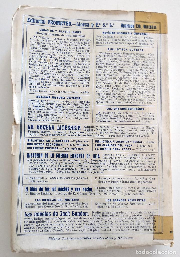 Libros antiguos: EL CABALLERO DE LA VIRGEN (ALONSO DE OJEDA), VICENTE BLASCO IBÁÑEZ - EDITORIAL PROMETEO VALENCIA1929 - Foto 3 - 128244447