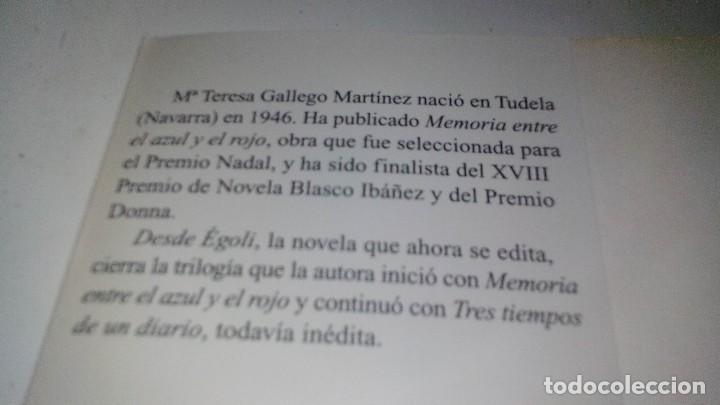 Libros antiguos: DESDE EGOLI- Gallego Martínez, María Teresa - Foto 4 - 128679319