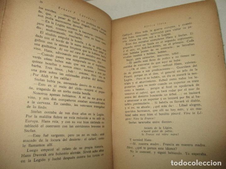 Libros antiguos: ÁFRICA LLORA. (Jornadas de un legionario.) - LÖHNDORFF, Ernest F. 1931. - Foto 3 - 123209582