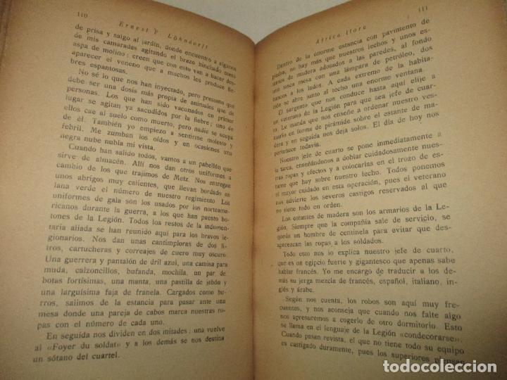 Libros antiguos: ÁFRICA LLORA. (Jornadas de un legionario.) - LÖHNDORFF, Ernest F. 1931. - Foto 4 - 123209582