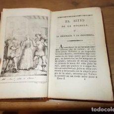 Libros antiguos: EL SITIO DE LA ROCHELA O LA DESGRACIA Y LA CONCIENCIA. TOMO I . CONDESA DE GENLIS. 1828. UNA JOYA!!!. Lote 132955654