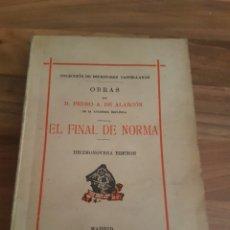 Libros antiguos: EL FINAL DE NORMA. Lote 136265568