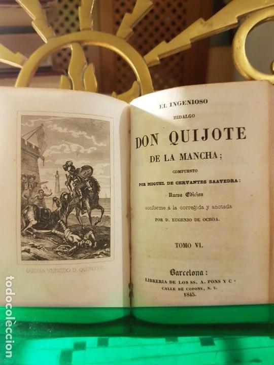 Libros antiguos: 1845: El ingenioso hidalgo don quijote de la Mancha - Pons - barcelona - Foto 4 - 137670566