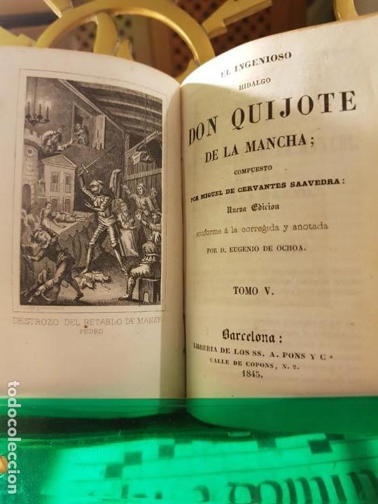Libros antiguos: 1845: El ingenioso hidalgo don quijote de la Mancha - Pons - barcelona - Foto 5 - 137670566