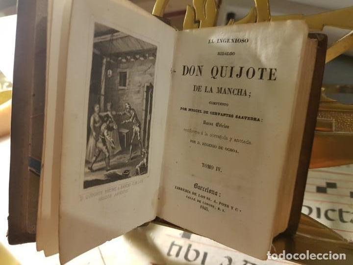 Libros antiguos: 1845: El ingenioso hidalgo don quijote de la Mancha - Pons - barcelona - Foto 6 - 137670566