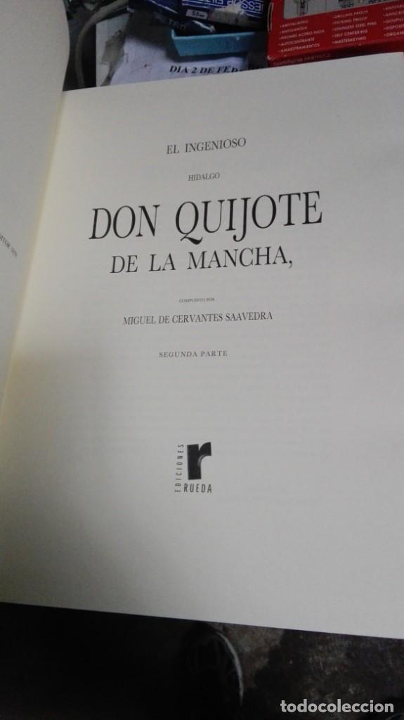 Libros antiguos: DON QUIJOTE DE LA MANCHA , 2 TOMOS , EDICIONES RUEDA - Foto 3 - 138592806
