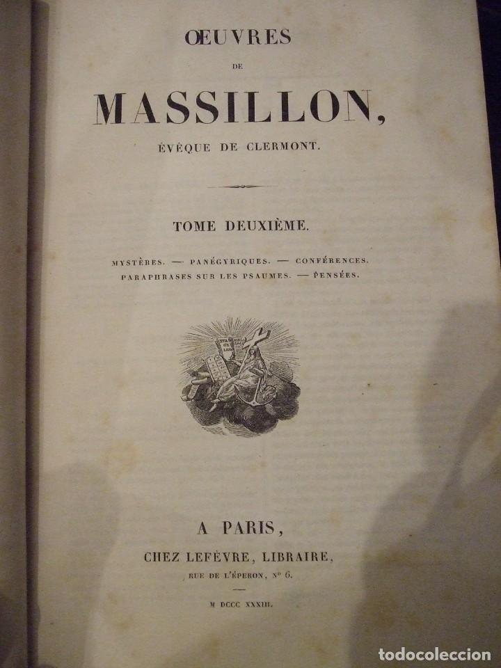 Libros antiguos: OEUVRES DE MASSILLON I & II - EVEQUE DE CLERMONT - CHEZ LEFEVRE 1833 COMPLETO - Foto 4 - 139097714