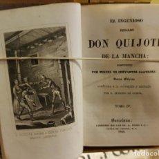 Libros antiguos: EL INGENIOSO HIDALGO DON QUIJOTE DE LA MANCHA 1845. Lote 139731382