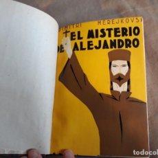 Libros antiguos: EL MISTERIO DE ALEJANDRO I - DIMITRI MEREJKOVSKY - EDITORIAL ESPASA CALPE, 1930 - 1ª EDICIÓN. Lote 142183638