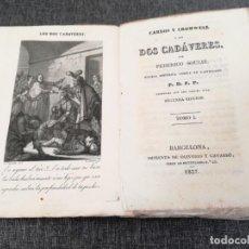 Livres anciens: CARLOS Y CROMWELL O LOS DOS CADÁVERES (1837) - FEDERICO SOULIÉ, GRABADO DE PLANELLA Y ALABERN - RARO. Lote 144726982