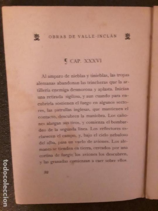 Libros antiguos: Valle-Inclán. La media noche. Visión estelar de un momento de guerra. - Foto 2 - 146126406