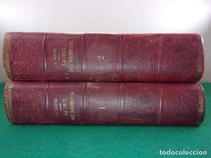 Libros antiguos: LA CRUZ DEL REDENTOR O EL TRIUNFO DE LA FE / J. Conde de Salazar y Souleret / Tomos I y II / Raro - Foto 7 - 146850326