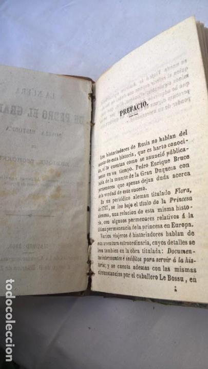 Libros antiguos: La nuera de Pedro el Grande, novela histórica de Enrique Zschokke. Madrid 1860 - - Foto 3 - 148682702