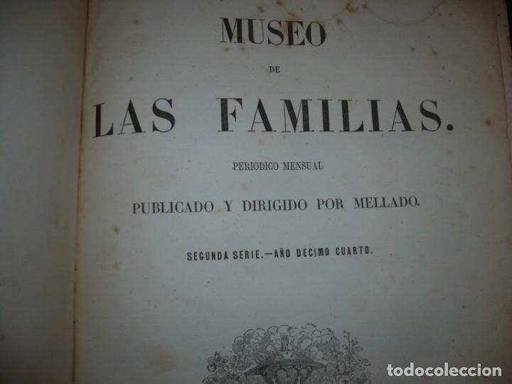 Libros antiguos: MUSEO DE LA FAMILIA PERIODICO MENSUAL DIRIGIDO POR MELLADO 1856 MADRID 2ªSERIE -AÑO 14 - Foto 3 - 149263466