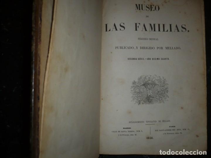 Libros antiguos: MUSEO DE LA FAMILIA PERIODICO MENSUAL DIRIGIDO POR MELLADO 1856 MADRID 2ªSERIE -AÑO 14 - Foto 2 - 149263466