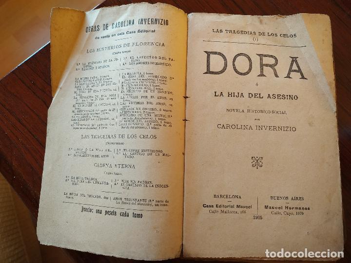 Libros antiguos: DORA O LA HIJA DEL ASESINO (1905) de Carolina Invernizio - Foto 4 - 151416110