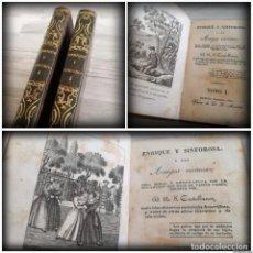 Libros antiguos: ENRIQUE Y SINFOROSA Y LOS AMIGOS VIRTUOSOS (1830-1831) - TOMOS 1 Y 3 - RARO, 5 GRABADOS EN LÁMINA. Lote 154432190