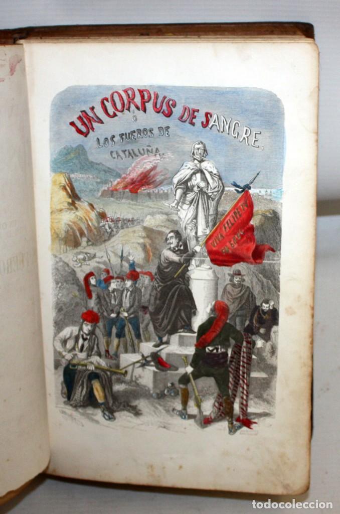UN CORPUS DE SANGRE Ó LOS FUEROS DE CATALUÑA-1857-MANUEL ANGELON. (Libros antiguos (hasta 1936), raros y curiosos - Literatura - Narrativa - Novela Histórica)