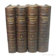Libros antiguos: 1867 CRISTÓBAL COLÓN. DESCUBRIMIENTO DE LAS AMÉRICAS - LAMARTINE - COMPLETA, 28 LÁMINAS - 1ª ED.. Lote 155298202