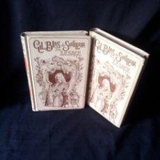 Libros antiguos: HISTORIA DE GIL BLAS DE SANTILLANA POR LESAGE - 2 TOMOS - MONTANER Y SIMON 1900. Lote 155435054