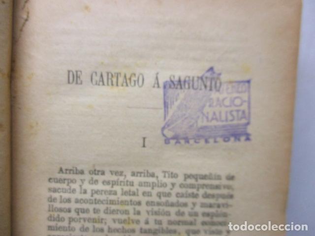 Libros antiguos: DE CARTAGO A SAGUNTO, BENITO PEREZ GALDOS - 1911 - Foto 17 - 50259240