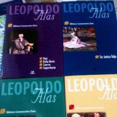 Libros antiguos: 4 LIBROS DE LEOPOLDO ALAS CLARÍN. BIBLIOTECA CONMEMORATIVA CLARÍN. ED. LIBSA.. Lote 161274188