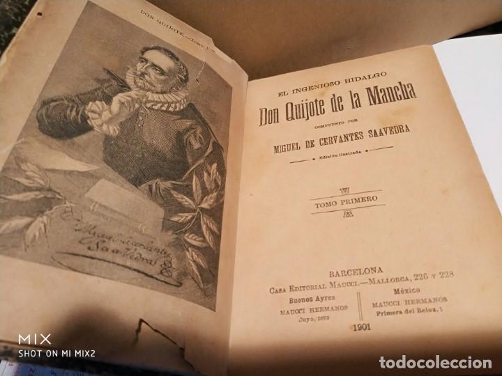 Libros antiguos: EL QUIJOTE TOMO PRIMERO CASA EDITORIAL MAUCCI 1901 - Foto 4 - 165845666