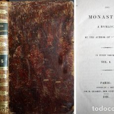 Libros antiguos: SCOTT, WALTER. THE MONASTERY. A ROMANCE. BY THE AUTHOR OF «WAVERLEY». 1821.. Lote 165952406