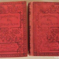 Libros antiguos: 1902 EL DILUVIO DE ENRIQUE SIENKIEWICZ. Lote 168519794