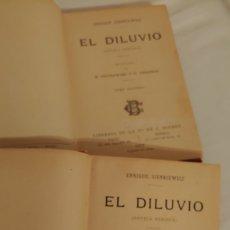 Libros antiguos: 1902 EL DILUVIO.ENRIQUE SIENKIEWICZ. Lote 168519794