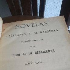 Libros antiguos: NOVELAS CATALANAS Y EXTRANJERAS, LIBRO DE 1901. Lote 168697985