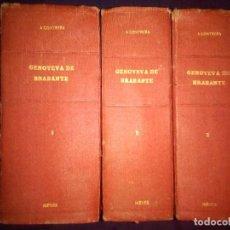 Libros antiguos: GENOVEVA DE BRABANTE. LEYENDA HISTÓRICA - ANTONIO CONTRERAS. [3 TOMOS] EDITORIAL CASTRO. Lote 169873392