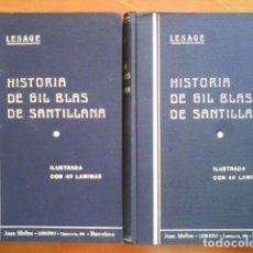 Libros antiguos: 930 ? HISTORIA DE GIL BLAS DE SANTILLANA - LESAGE / 40 LÁMINAS - DOS TOMOS. Lote 171050000