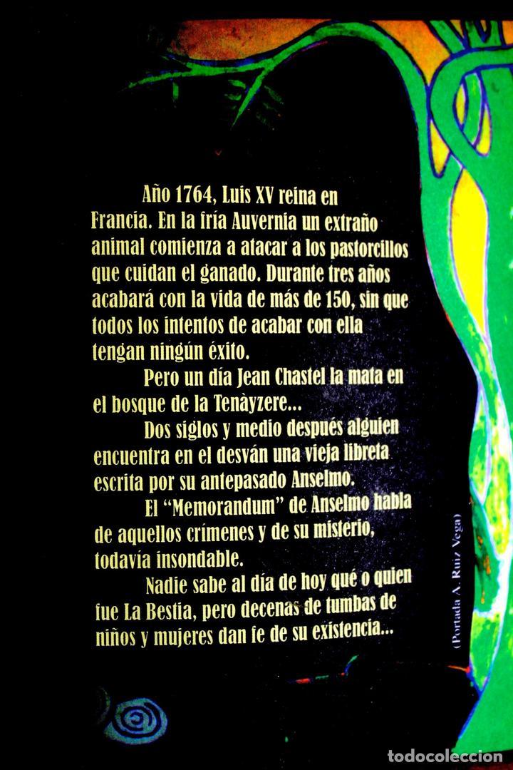 Libros antiguos: La Bestia (Del Gevaudan) (Una historia real) Antonio Ruiz Vega - Foto 7 - 171334083