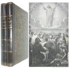 Libros antiguos: 1871 - EL MÁRTIR DEL GÓLGOTA, TRADICIONES DE ORIENTE - 2 TOMOS ILUSTRADOS CON GRABADOS - 24 CM. . Lote 171629878