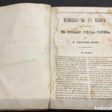 Libros antiguos: EL COLLAR DE LA REINA - MEMORIAS DE UN MEDICO DE ALEJANDRO DUMAS , LIBRO DEL SIGLO XIX. Lote 173467018
