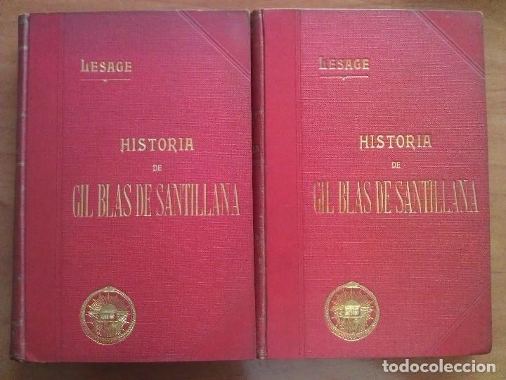 1874 ? HISTORIA DE GIL BLAS DE SANTILLANA - LESAGE / DOS TOMOS - 40 LÁMINAS (Libros antiguos (hasta 1936), raros y curiosos - Literatura - Narrativa - Novela Histórica)